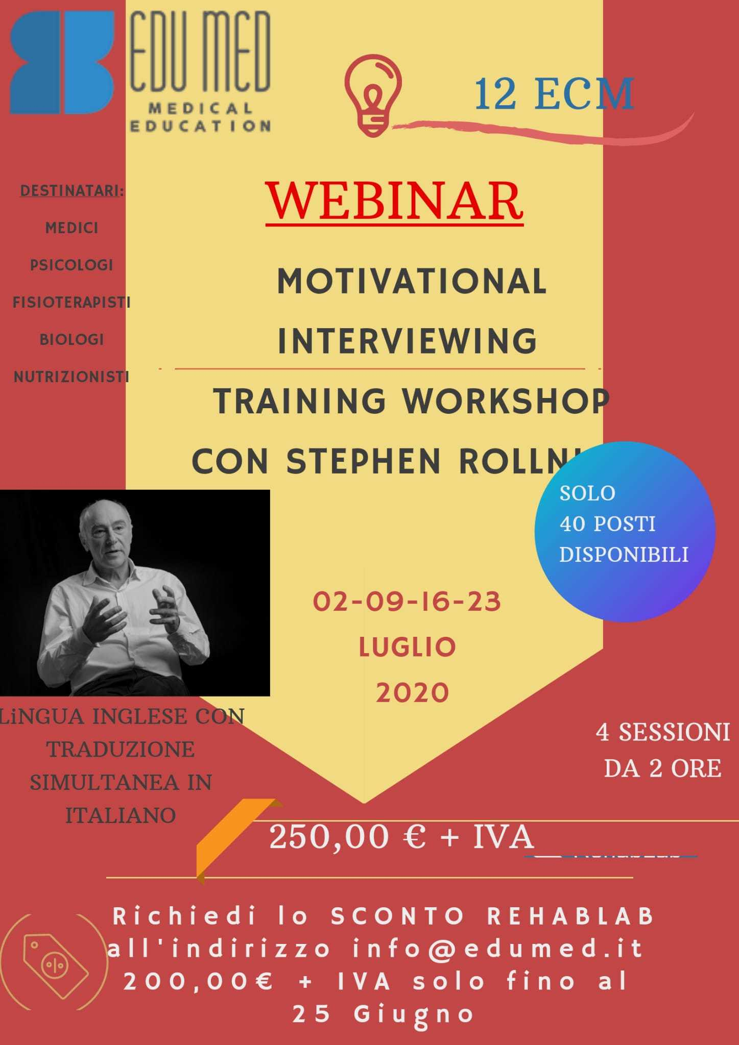 MOTIVATIONAL INTERVIEWING - TRAINING WORKSHOP